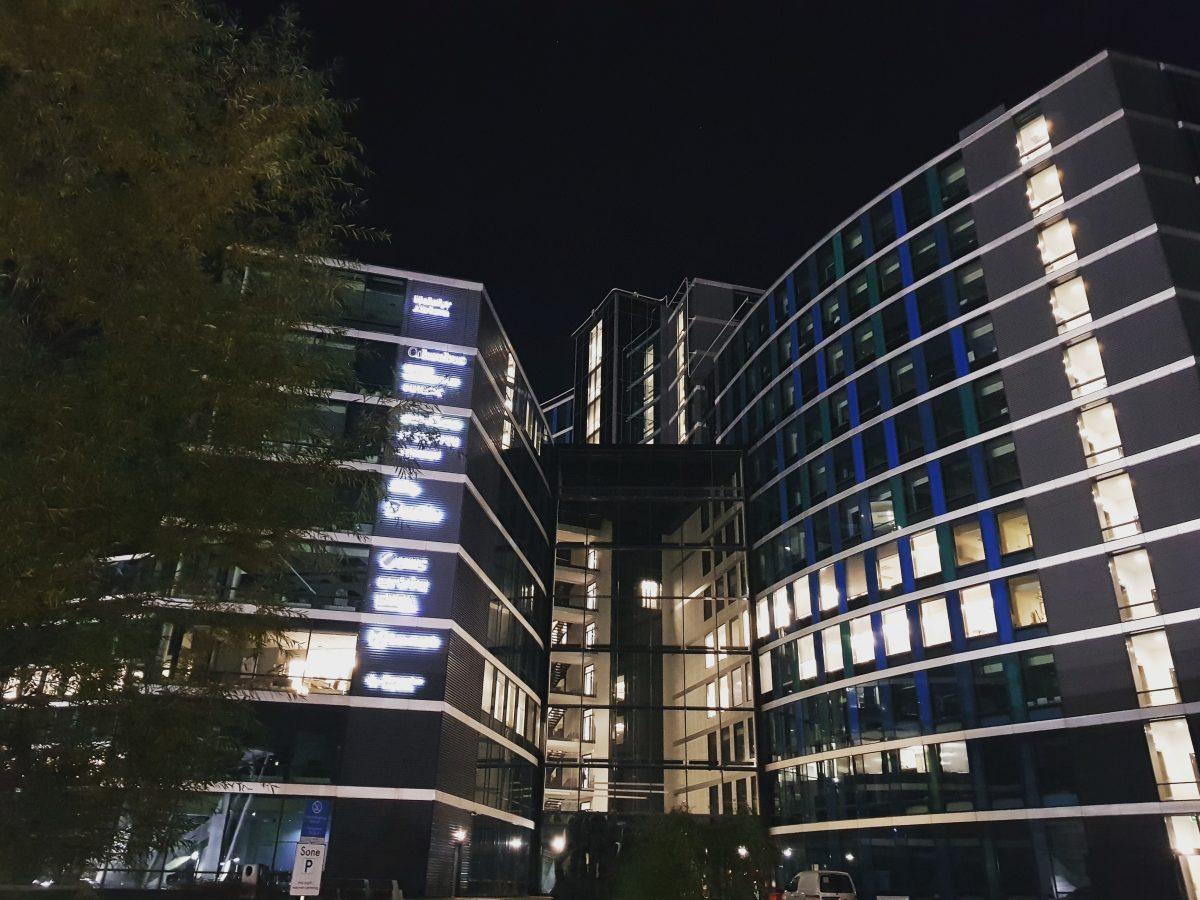 Helsfyr Atrium by night 2