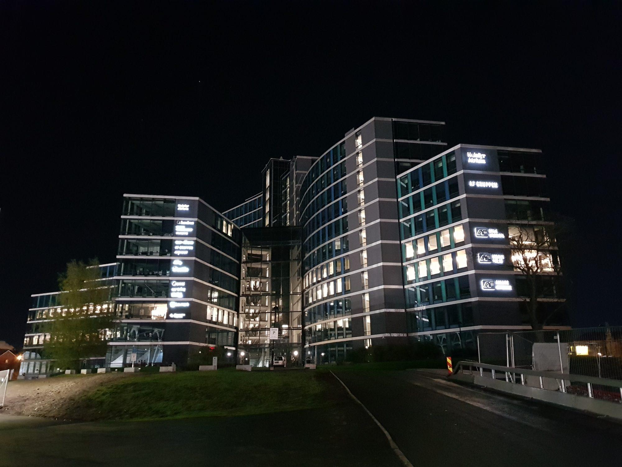 Helsfyr Atrium by night