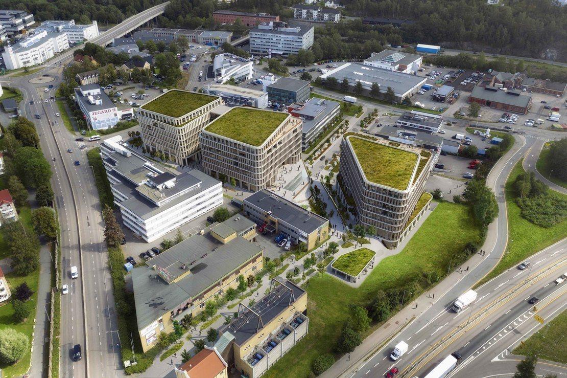 BOS Eiendom Nils Hansens vei 9-11 Arkitektillustrasjon