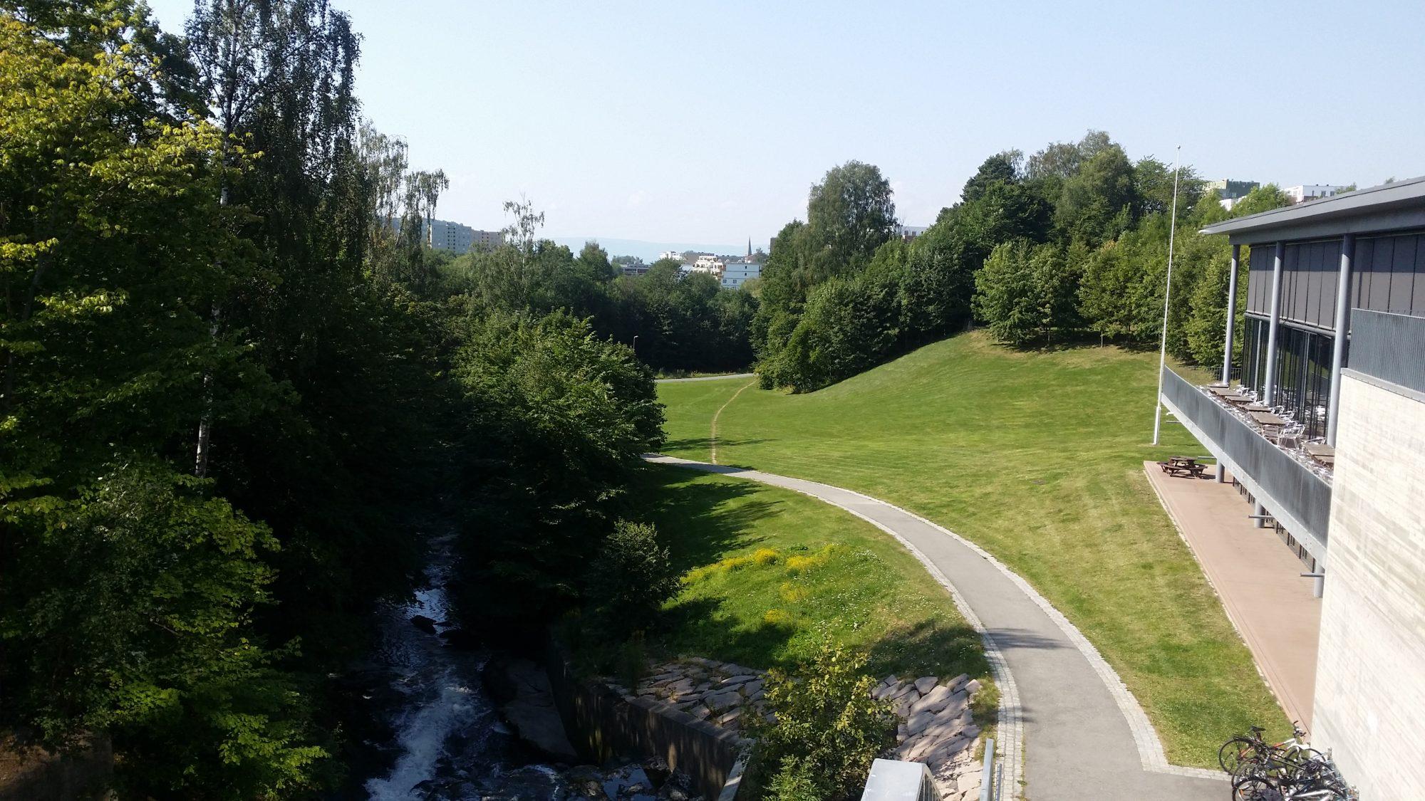 Brynsfossen Park nytt ovenfra