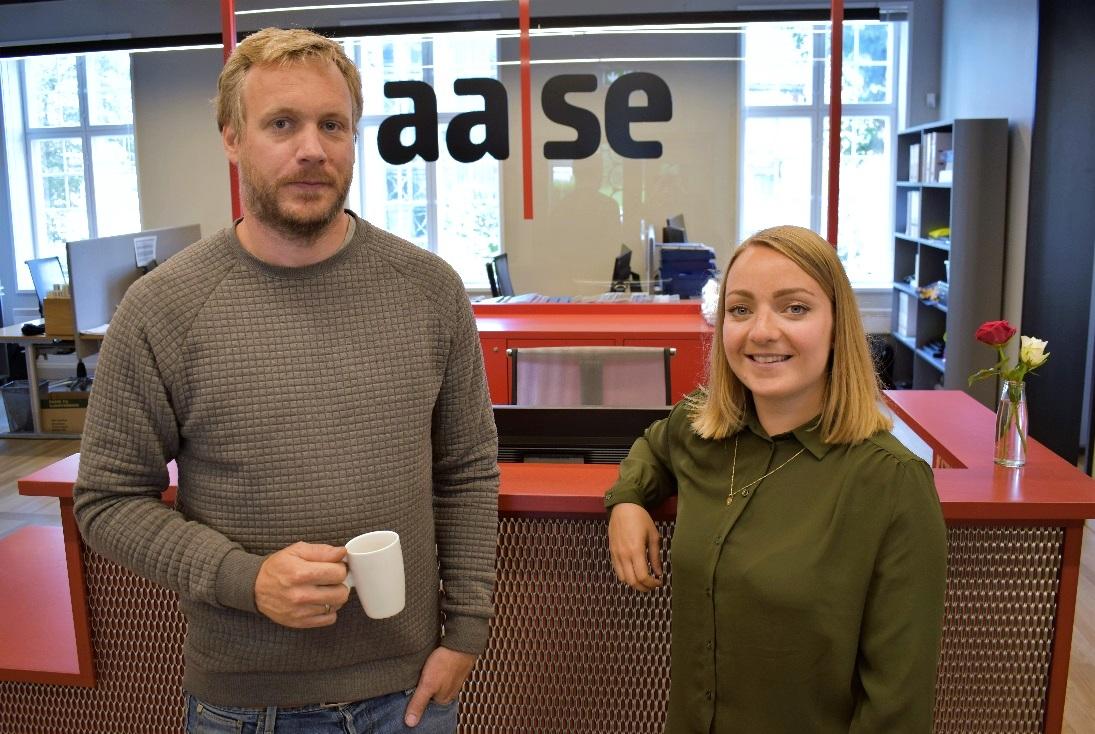Daglig leder Arthur S. Jensen og Julie-Lyslo-Skullestad Aase Teknikk