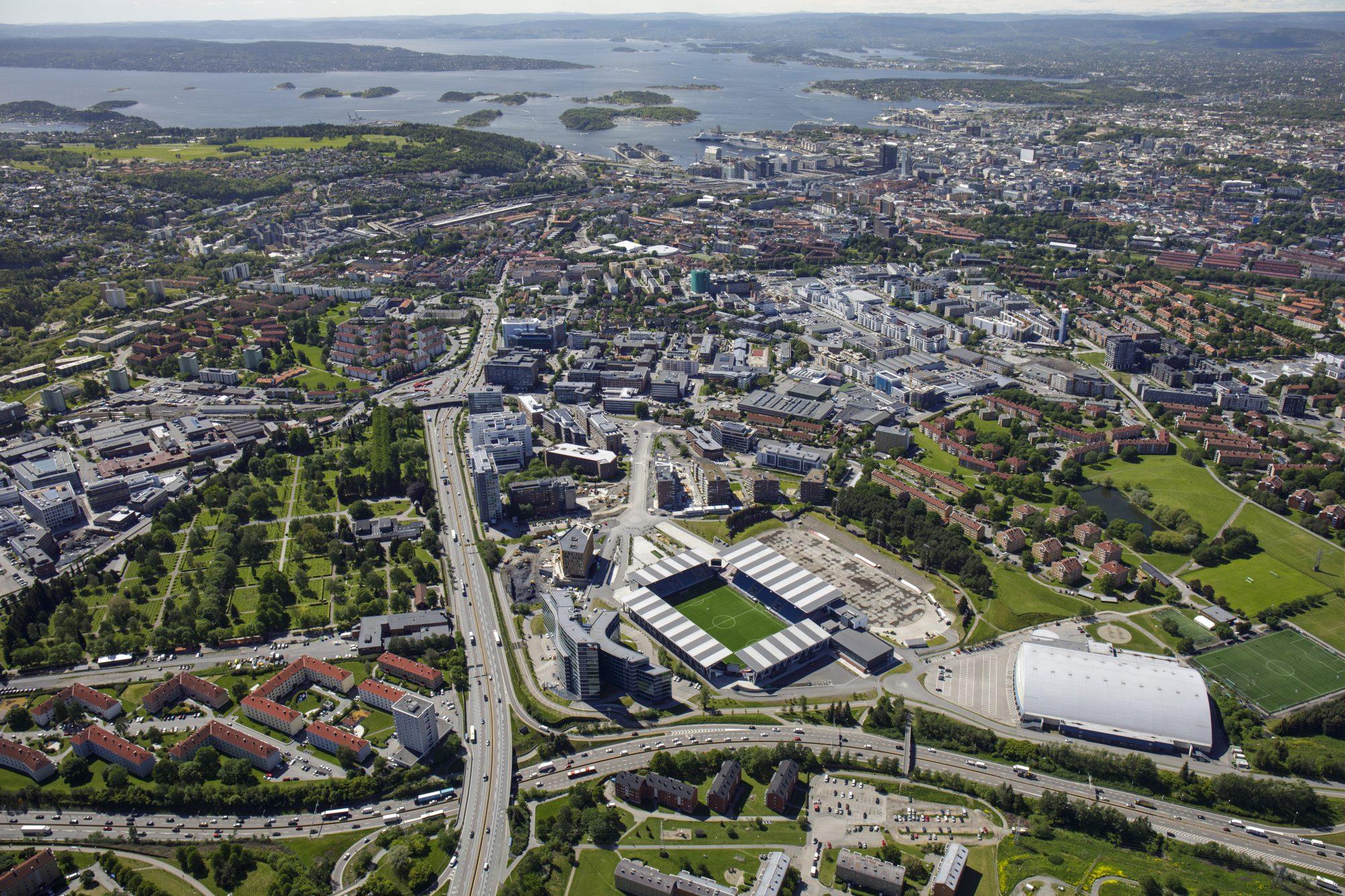 Flyfoto Juni 2019: Helsfyr. Foto: nyebilder.no