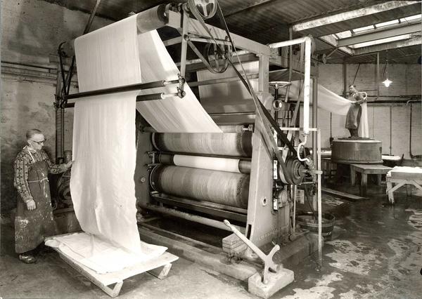 Johs Petersen fabrikk tekstilmaskiner 1953