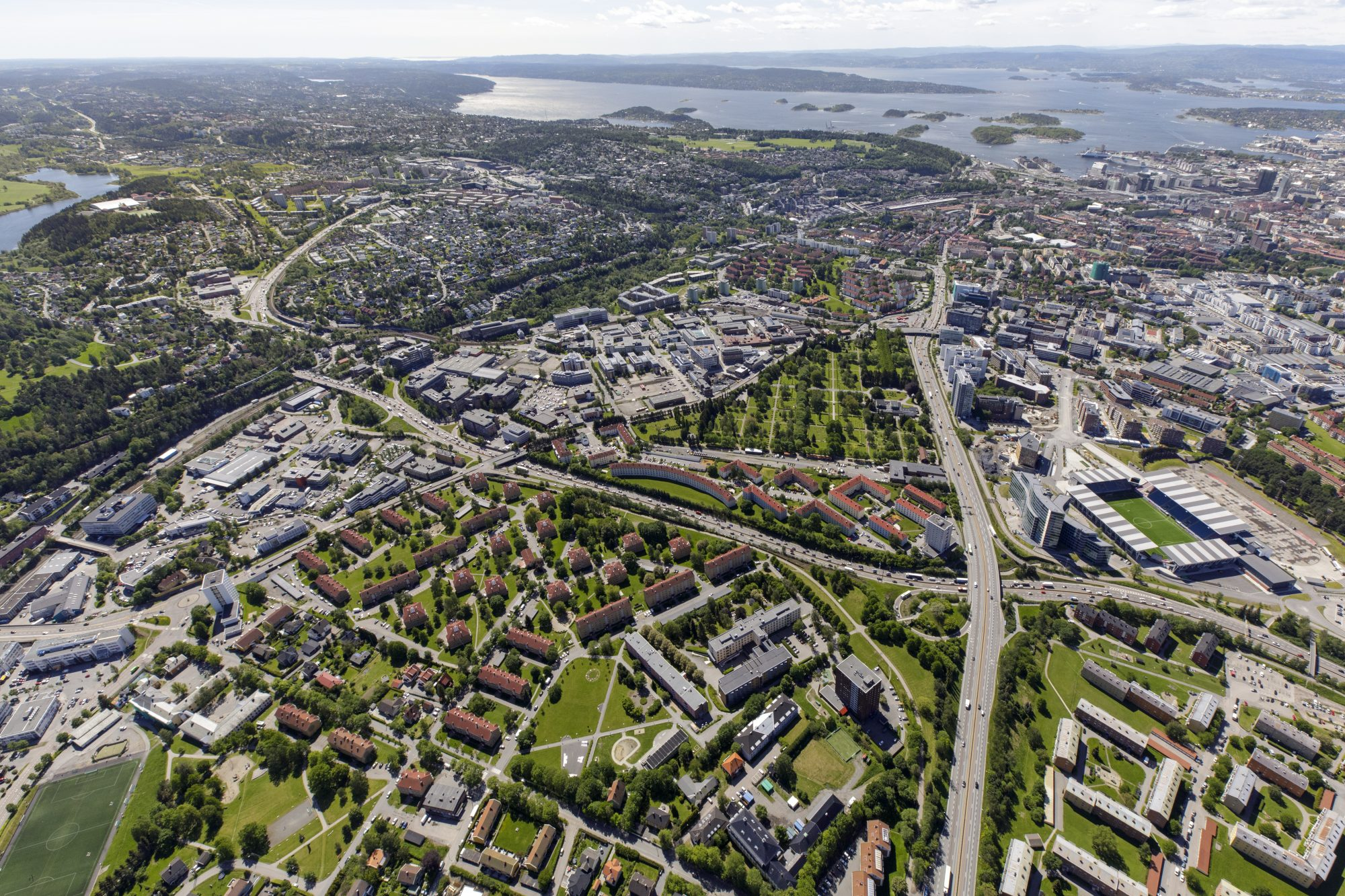 Flyfoto Juni 2019: Bryn-Helsfyr. Foto: nyebilder.no